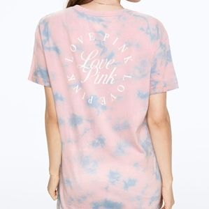 PINK Victoria's Secret Tops - VS PINK Tie Dye Short Sleeve Campus Tee